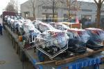 响应国家号召,华全60台常柴发电机组运往甘肃,支援西部