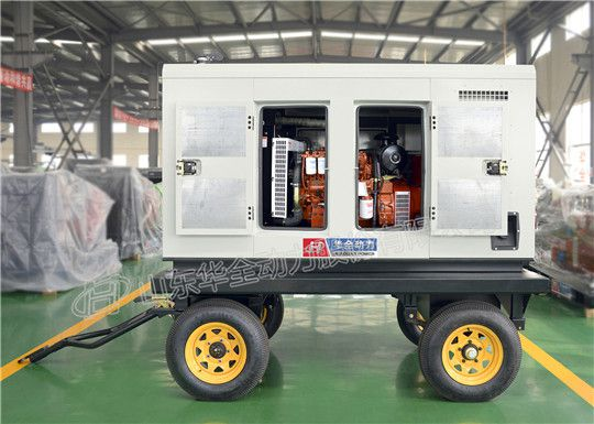 雷雨天气专用华全静音移动发电机组