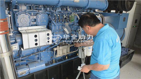 养殖场用1000千瓦华全自动化柴油发电机组,安装调试现场!